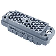 EDAC E1CFN Multipin 56 pin female chassis connector, nut