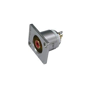 Canare RJ-RURED Connector : RCA, flush mount, 75 Ohm, red
