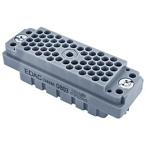 EDAC E2CFN Multipin 90 pin female chassis connector, nut